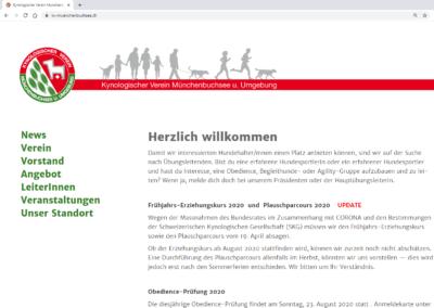 Website KV Münchenbuchsee