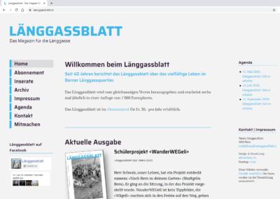 Website Länggassblatt