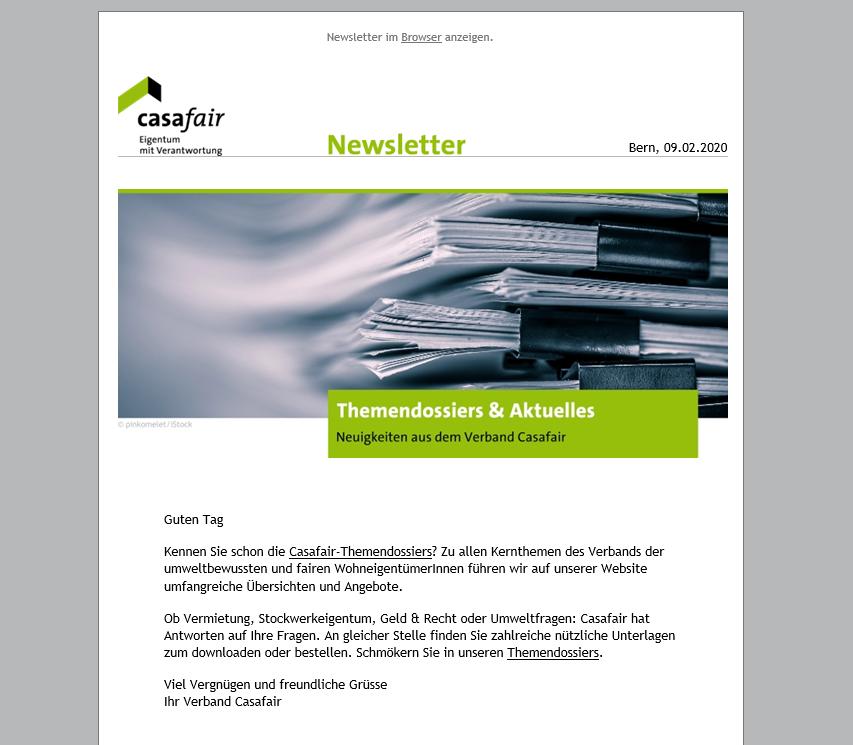 Newsletter Casafair